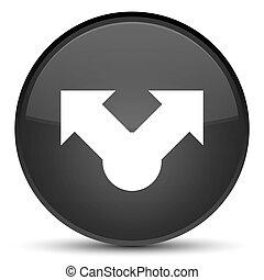 Share icon special black round button