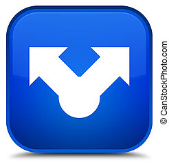 Share icon special blue square button