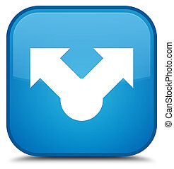 Share icon special cyan blue square button