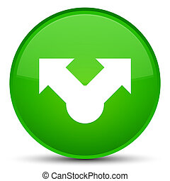 Share icon special green round button