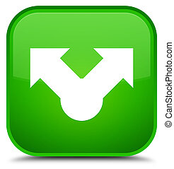Share icon special green square button