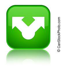 Share icon special green square button