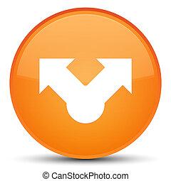 Share icon special orange round button