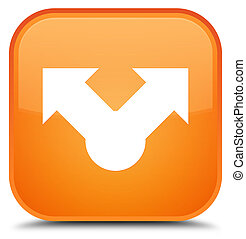 Share icon special orange square button