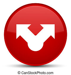Share icon special red round button