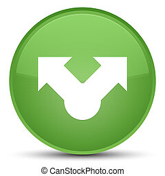 Share icon special soft green round button