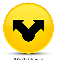 Share icon special yellow round button