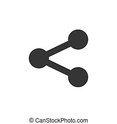 Share icon - vector illustration. Black share icon isolated...