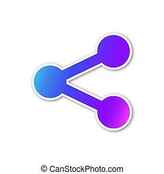 Share icon - vector illustration. - Vector Share icon. Paper...