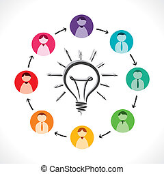 share idea concept vector - share new idea for every team...