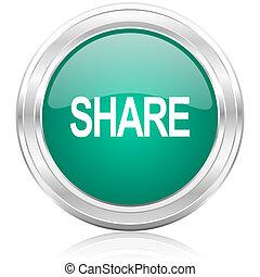 share internet icon - green glossy internet icon