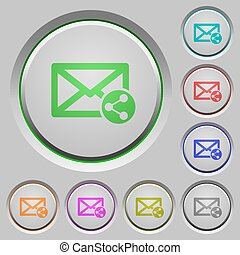 Share mail push buttons