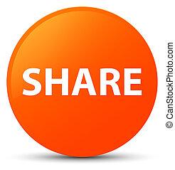 Share orange round button