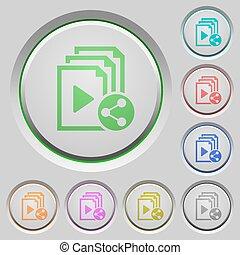 Share playlist push buttons