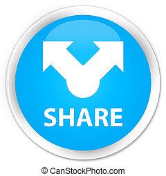 Share premium cyan blue round button
