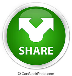 Share premium green round button
