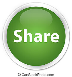Share premium soft green round button