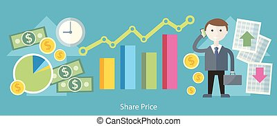 Share Price Exchange Concept Design - Share price exchange...