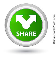 Share prime green round button