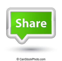 Share prime soft green banner button