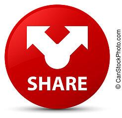 Share red round button