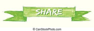 share ribbon - share hand painted ribbon sign
