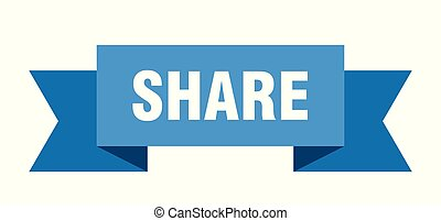share ribbon. share isolated sign. share banner