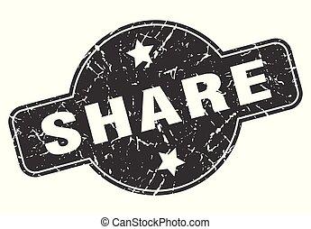 share round grunge isolated stamp