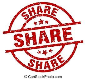 share round red grunge stamp