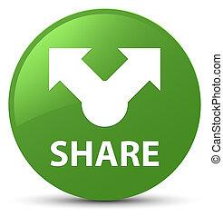 Share soft green round button