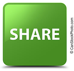 Share soft green square button