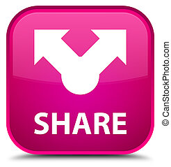 Share special pink square button