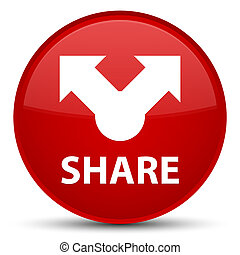 Share special red round button