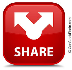 Share special red square button