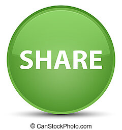 Share special soft green round button
