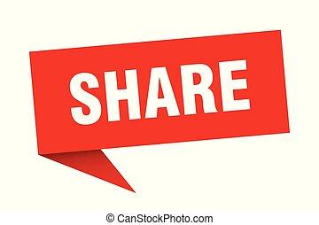 share speech bubble. share sign. share banner