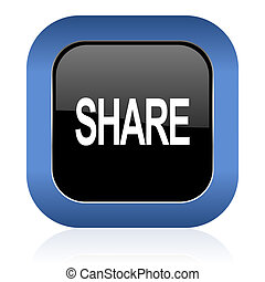 share square glossy icon