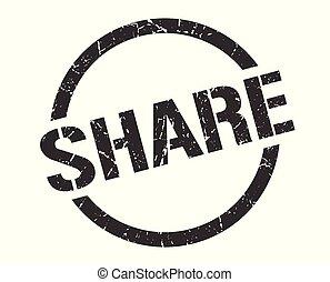 share stamp - share black round stamp