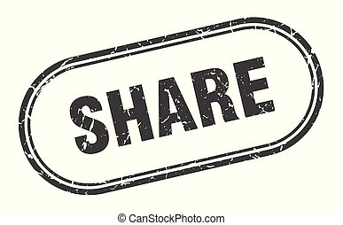 share stamp. share square grunge sign. share