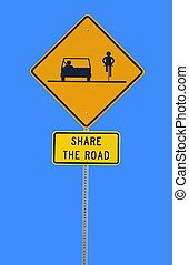share the road sign photographed at Athens, Ga