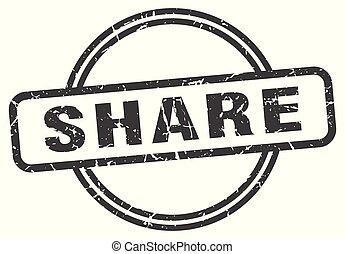 share vintage stamp. share sign