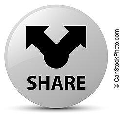 Share white round button
