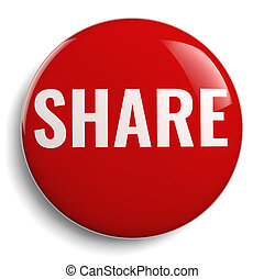 Share Word Red Round Sign