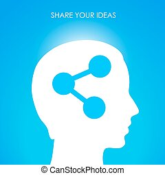 Share your ideas, vector conceptual image