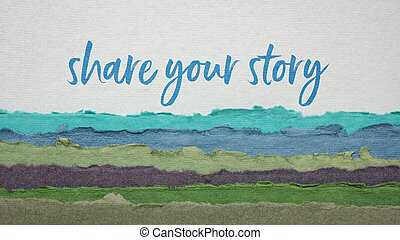 share your story handwriting on a handmade paper - share ...