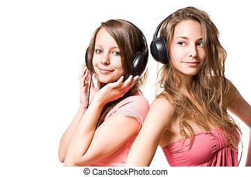 On two brunette teen valuable