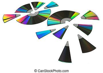 Shared disks - Shareware disks cut up for sharing