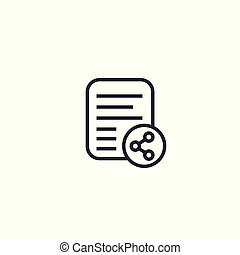 shared document line icon