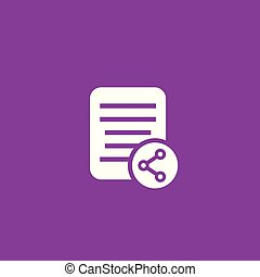 shared document vector icon