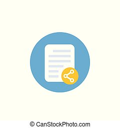 shared document vector icon, flat